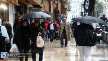 پیش بینی بارش باران ۴ روزه در برخی استان ها