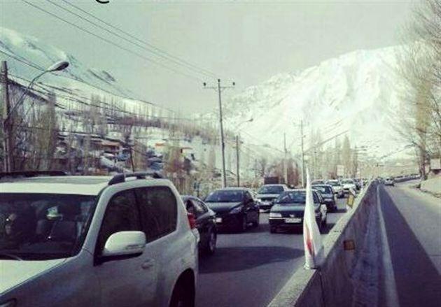ترافیک در محور هراز سنگین است/ سطح لغزنده محورهای شریانی استان مازندران