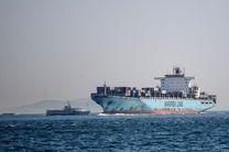 غرق شدن کشتی تجاری در بندرعباس