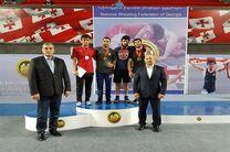 طلای جایزه بزرگ گرجستان بر گردن کشتیگیر مازندرانی