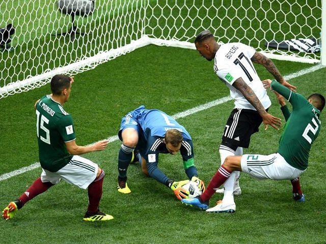 پیروزی مکزیک برابر آلمان در نیمه نخست