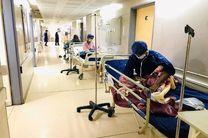 بستری شدن بیماران کرونایی بندرعباس در راهرو بیمارستان