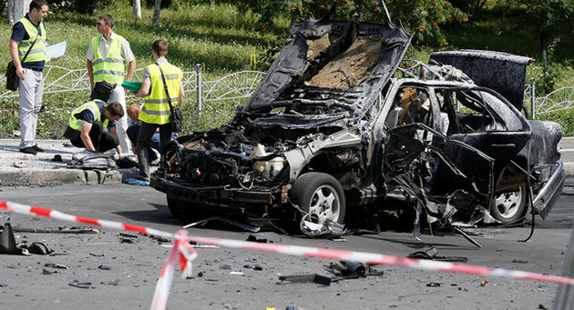 کشته شدن یک مقام اطلاعاتی اوکراین در انفجار خودروی بمب گذاری شده