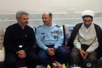 دیدار فرمانده و مسوولان پایگاه شهید بابایی با خانواده شهید حججی