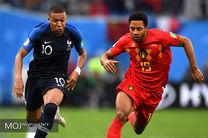 تساوی فرانسه و بلژیک در نیمه نخست