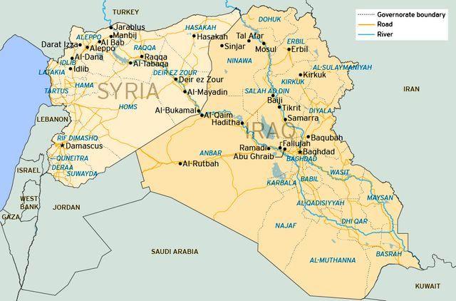 حمله جنگندههای ائتلاف آمریکا به مرز عراق و سوریه