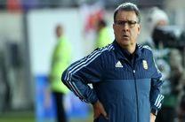 مارتینو از هدایت تیم ملی فوتبال آرژانتین کنارهگیری کرد