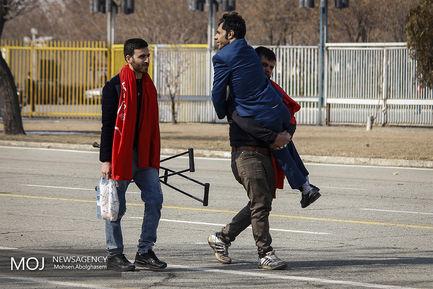 دیدار تیم های فوتبال پرسپولیس و تراکتورسازی