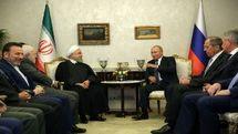 روسای جمهور ایران و روسیه با یکدیگر دیدار کردند