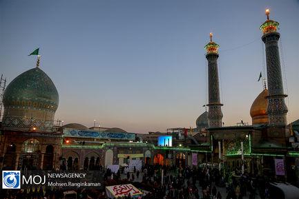اهتزاز پرچم گنبد حرم عبدالعظیم حسنی(ع)