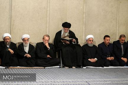 مراسم ختم آیتالله هاشمی شاهرودی با حضور مقام معظم رهبری