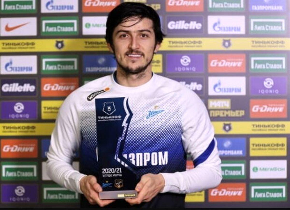 سردار آزمون عنوان دومین بازیکن برتر ماه باشگاه زنیت را از آن خود کرد