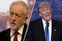 کوربین: ترامپ نباید به انگلیس بیاید