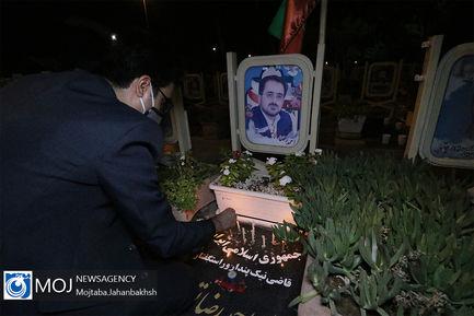 عزاداری شام غریبان حسینی در گلستان شهدای اصفهان