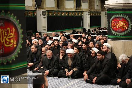 آخرین شب عزاداری ایام فاطمیه با حضور مقام معظم رهبری