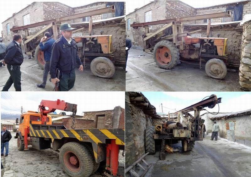 یک دستگاه حفاری غیرمجاز چاه در مریوان توقیف شد