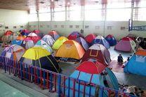 اسکان تعداد زیادی از مسافران نوروزی در نمایشگاه ها و ورزشگاه های یزد