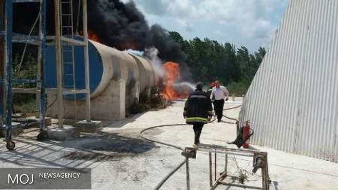 انفجار تانکر گازوئیل در شهرک صنعتی محمودآباد