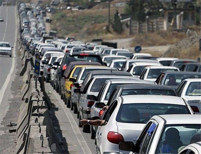 ترافیک سنگین در آزاد راه کرج - تهران