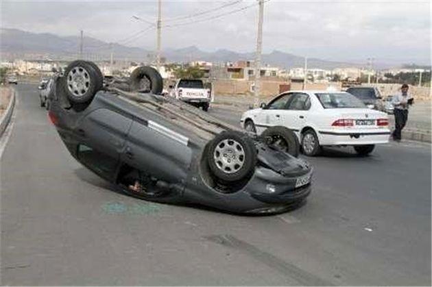 ۳۸ درصد حوادثرانندگی مربوط به واژگونی خودروهاست
