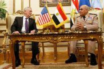 وزیر دفاع آمریکا بر حمایت کشورش از مصر تاکید کرد