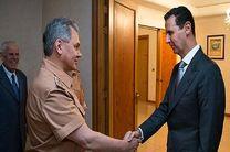 وزیر دفاع روسیه با بشار اسد دیدار کرد