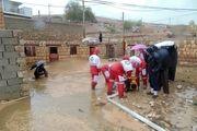 امدادرسانی جمعیت هلال احمر به 45 منزل مسکونی دچار آب گرفتگی در کوهپایه