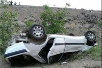 واژگونی  خودرو پژو پارس در مبارکه / مصدوم شدن 5 نفر