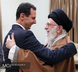 دیدار رییس جمهوری سوریه با مقام معظم رهبری