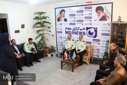 بازدید فرمانده نیروی انتظامی استان اصفهان از خبرگزاری  موج در اصفهان