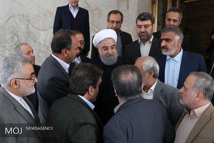 دیدار روسای کمیسیون های تخصصی مجلس با رییس جمهوری