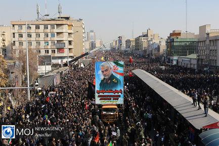 تشییع پیکر سپهبد شهید قاسم سلیمانی در تهران (۱)