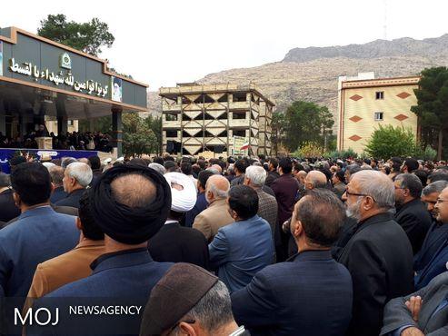 جای خالی محمدرضا ملکشاهی راد در جایگاه تشییع پیکر شهید زنده لرستان