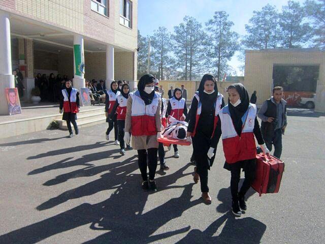 بیستمین دوره مانور زلزله در کلیه مدارس شهر تهران برگزار شد