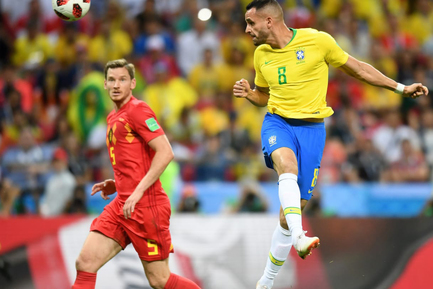 جام جهانی فوتبال - دیدار تیم های برزیل و بلژیک
