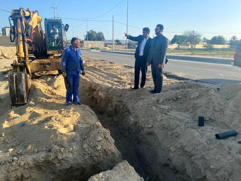 راه اندازی ناحیه 2 آبفا قشم در شهر طبل