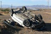 4 مصدوم در واژگونی خودرو تیبا در محور خور- جندق