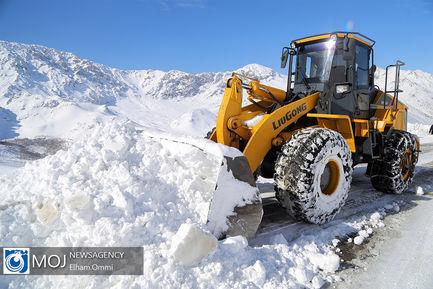 بارش برف در ارتفاعات اورامان