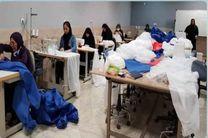 تولید لباسهای گان در جزیره  قشم