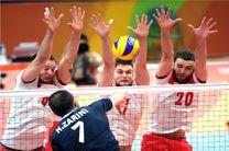والیبال ایران برابر لهستان شکست خورد / نخستین امتیاز المپیکی کسب شد