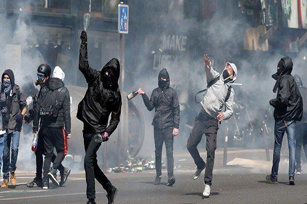 ادامه تظاهرات خشونت بار علیه نامزدهای انتخاباتی در پاریس