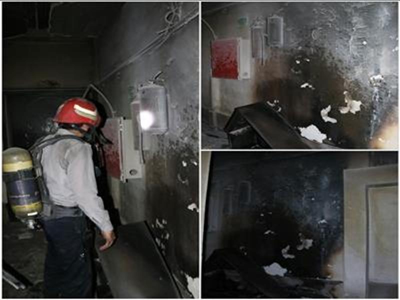 یکی از هتلهای خرمآباد دچار حریق شد