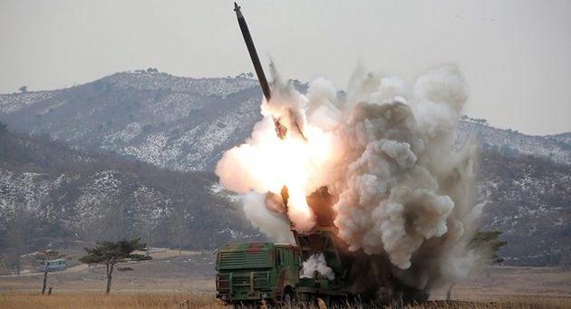 تصاویر ماهوارهای از ساخت جزایر برای پرتاب موشک توسط کره شمالی
