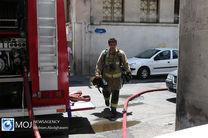 آتش سوزی یک مجتمع تجاری در خیابان اکباتان