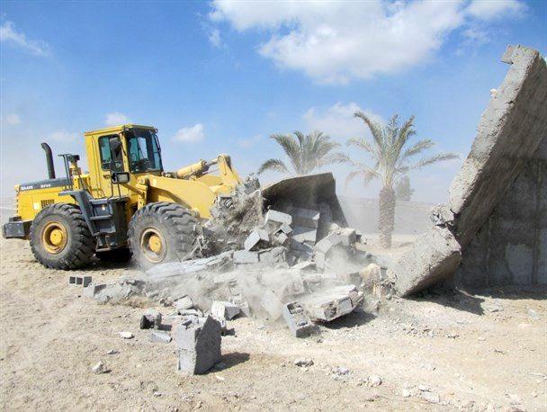 بیش از ۷ هزار مترمربع از اراضی ملی در پارسیان رفع تصرف شد
