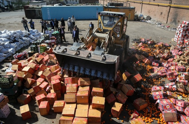 کشف بیش از ۵۰۰ تن محصولات کشاورزی قاچاق در هرمزگان