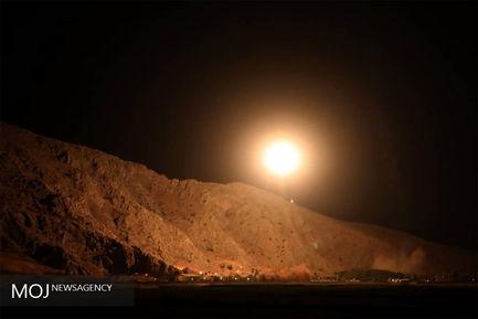 حمله موشکی نیروی هوا فضای سپاه به مقر فرماندهی تروریست های تکفیری
