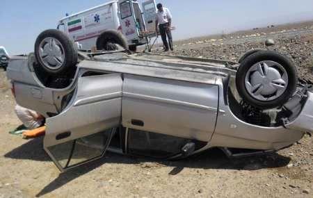 واژگونی سواری پراید، جان 2 تن را گرفت
