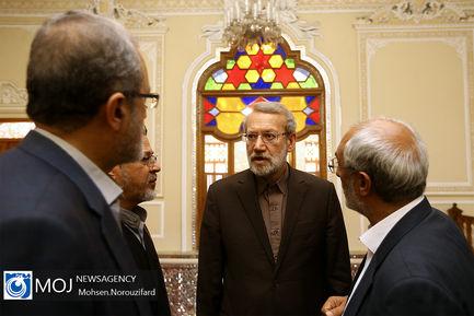 جلسه شورای عالی انقلاب فرهنگی در دفتر رییس مجلس