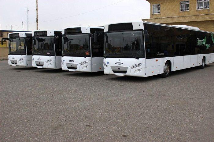 ورود ۵ دستگاه اتوبوس یورو ۴ به ناوگان حمل و نقل عمومی قم